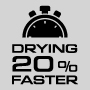 Drying 20% faster