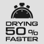 Drying 50% faster