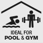 Ideálne pre oblasti s vysokou frekvenciou používateľov, ako sú bazény a telocviční