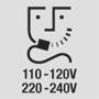 Zásuvka na holiaci strojček 110-120V / 220-240V