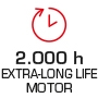 Motor life 2,000 hours