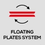 Floating plates system