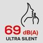 Ultra silent 69 dB(A)