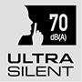 Ultra silent 70 dB(A)