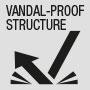 Vandalensichere Struktur